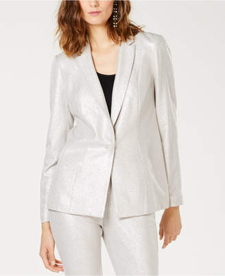 INC International Concepts I.n.c. Petite Foil Crepe Blazer