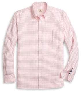 Brooks Brothers Red Fleece Oxford Gingham Cotton Casual Button-Down Shirt