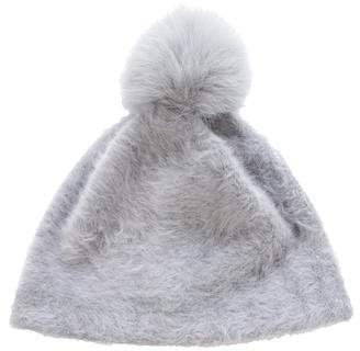 Max Mara Fox Fur-Trimmed Angora Beanie
