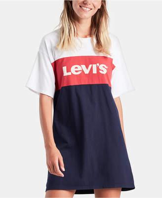 Levi's Cotton Colorblocked T-Shirt Dress