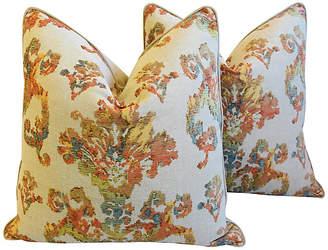 One Kings Lane Vintage English Woven Old World Pillows - Set of 2