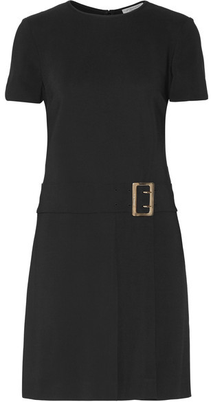 Burberry - Buckled Stretch-crepe Mini Dress - Black