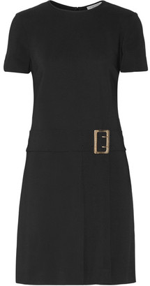Burberry - Buckled Stretch-crepe Mini Dress - Black $1,095 thestylecure.com