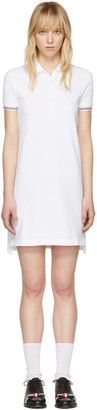 Thom Browne White A-Line Polo Dress $590 thestylecure.com