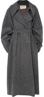 Awake Oversized Double-breasted Wool-blend Felt Coat - Charcoal