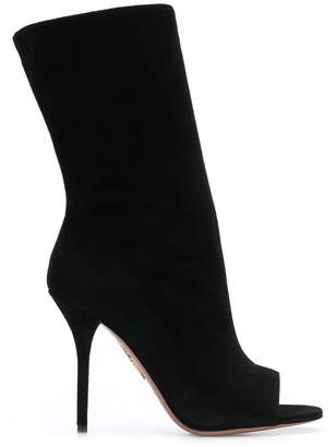 Aquazzura open toe booties