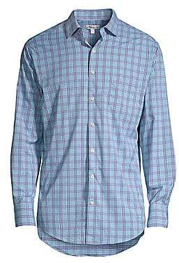 Peter Millar Men's Plaid Button-Front Shirt