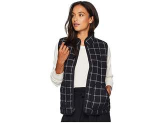 Mod-o-doc Windowpane Flannel Plaid Quilted Vest with Corduroy Trim