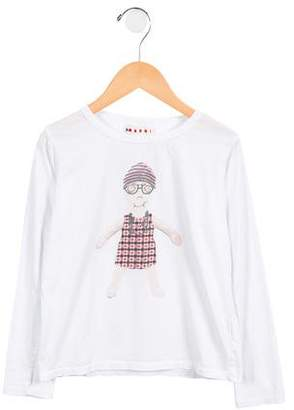 Marni Girls' Printed Long Sleeve Top