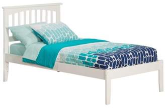 Atlantic Furniture Mission Platform Bed with Open Foot Board in, in Multiple Colors and Sizes