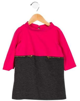 Milly Minis Girls' Colorblock Long Sleeve Dress