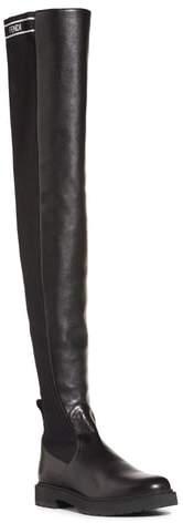 Fendi Logo Over the Knee Boot