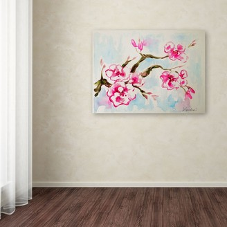 Trademark Fine Art Cherry Blossom Canvas Wall Art