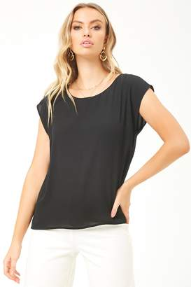 Forever 21 Chiffon Cap Sleeve Top