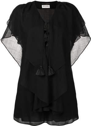 Saint Laurent batwing sleeve kaftan dress