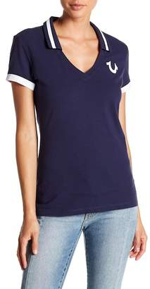 True Religion Deep V-Neck Polo
