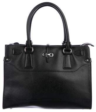 49f13f28ff Pre-Owned at TheRealReal · Salvatore Ferragamo Saffiano Briana Tote