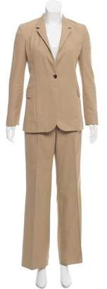 Gucci Structured Leather-trimmed Pantsuit