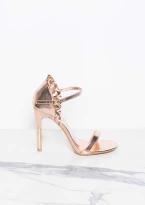 0db15b4f0864 Missy Empire Missyempire Carmen Rose Gold Ruffle Back Strappy Sandals