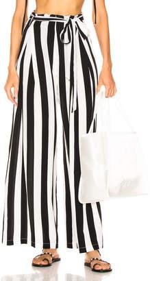 Leone We Are we are Luke Trousers in Black & White Stripe | FWRD