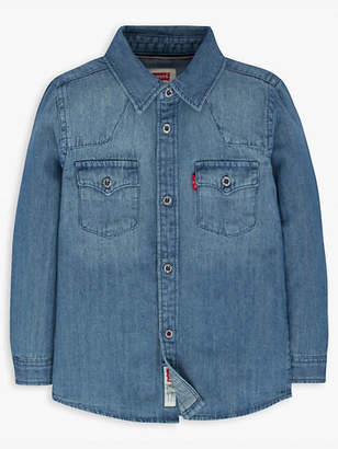 Levi's Little Boys 4-7x Barstow Western Shirt Chambray 4