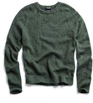 Todd Snyder Brushed Italian Wool Crewneck Sweater in Olive