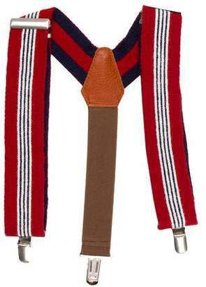 Denim Dungaree Boys' Striped Knit Spenders w/ Tags