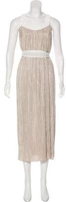 Alice + Olivia Pleated Maxi Dress