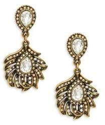 Heidi Daus Crystal Feather Drop Earrings