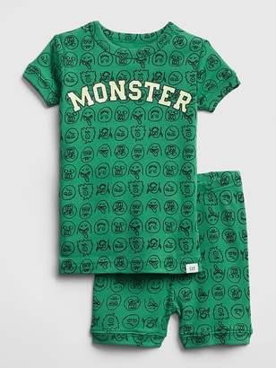 Gap Glow-in-the-Dark Monster Short PJ Set