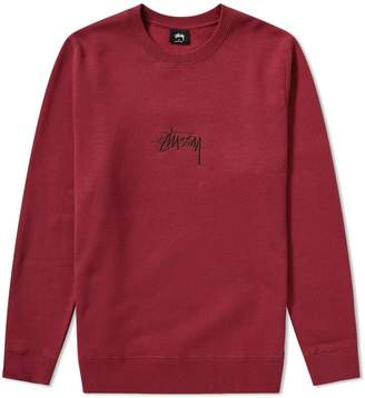 Stussy Stock Logo Applique Crew Sweat