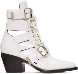 Chloé White Medium Rylee Boots