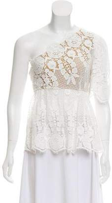 Miguelina Asymmetrical Crocheted Top