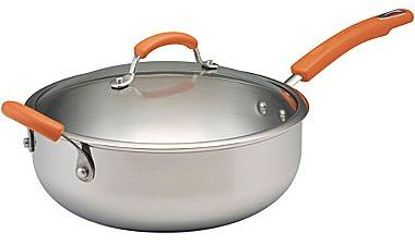 Rachael Ray 6-qt. Stainless Steel Chef's Pan + Helper Handles