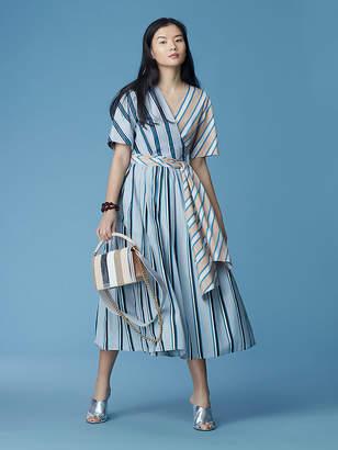 Diane von Furstenberg Short-Sleeve Full Side Tie Dress