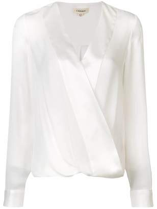L'Agence wrap front blouse