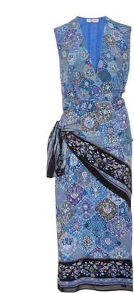 Altuzarra Sade Silk Wrapped Midi Dress