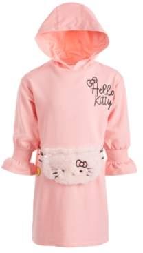 Hello Kitty Little Girls Faux-Fur Fanny-Pack Hooded Dress