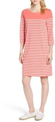 1901 Stripe Cotton Knit Shift Dress