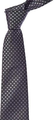 Canali Grey Dot Silk Tie