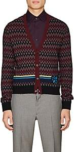 Prada Men's Intarsia-Chevron Wool-Cashmere Sweater - Black