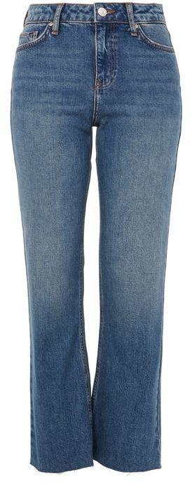 TopshopTopshop Moto vintage wash dree cropped kick flare jeans