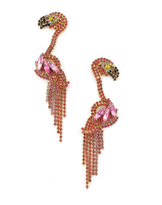 Elizabeth Cole Georgy Flamingo Earrings