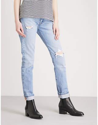 Levi's 501 skinny mid-rise jeans