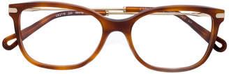 Chloé Eyewear tortoiseshell effect eye glasses