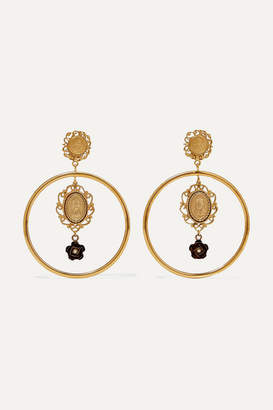 Dolce & Gabbana Gold-tone Faux Pearl Clip Earrings - one size