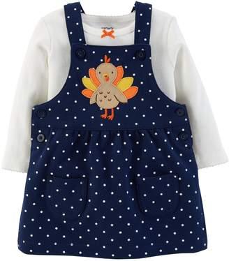 Carter's Baby Girl Polka-Dot Turkey Jumper & Bodysuit Set