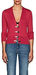 Altuzarra Women's Button-Detailed Silk-Cotton Cardigan - Fuchsia