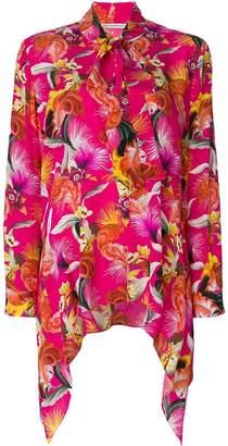 Mary Katrantzou floral print tie shirt