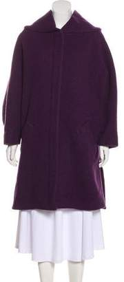 Cacharel Virgin Wool-Blend Knee-Length Coat